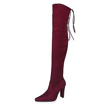 Fashion Large Size Long Women's  Over-the-knee Boots