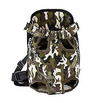 M 30 * 20cm camuflaj verde în aer liber sac portabil pentru animale de companie, rucsac plasă respirabil pentru pisici și câini az7762
