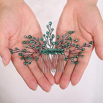 Fones de ouvido casuais Cabelo verde pente handmade wedding acessórios de cabelo