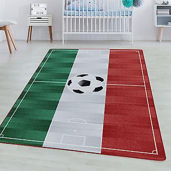 Tappeto camera per bambini GIOCO Short pile tappeto per bambini Play carpet Calcio Italia