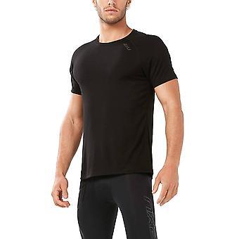 2XU Heat Mens Running T-Shirt, Black