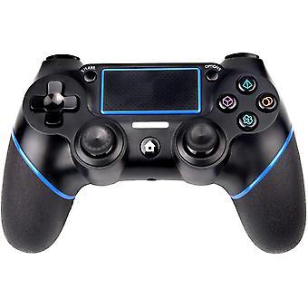 Kontroler bezprzewodowy dla PS4, kontroler dotykowy Bluetooth z podwójnymi wibracjami / 6-osiową / funkcją audio, gamepad kompatybilny ze stacją Play 4 / Pro / Slim (czarny)