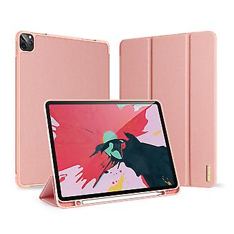 Case For Ipad Pro 12.9 2020 Ultra Thin Smart Leather Cover Case With Pencil Holder & Auto Wake Up/sleep - Pink