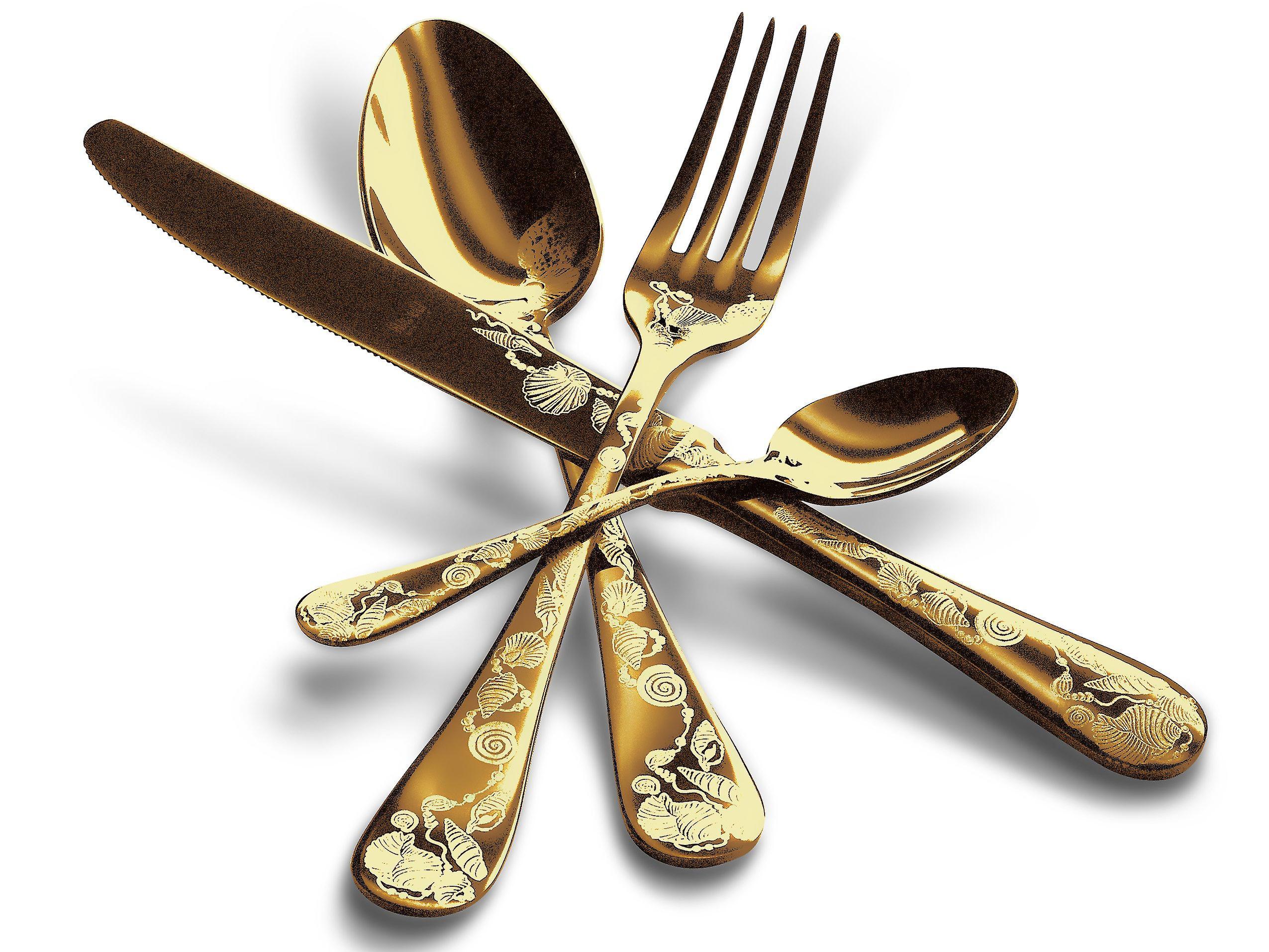 Mepra Venere Oro 4 pcs flatware set