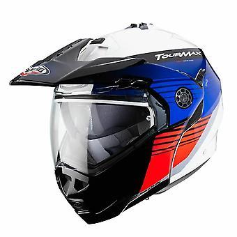 Caberg Tourmax Titan Full Face Motorcykelhjälm Vit/Blå/Röd