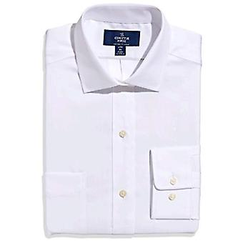 """BUTTONED DOWN Men's Classic Fit Spread-Collar Non-Iron Dress Shirt (Pocket), White, 15"""" Neck 36"""" Sleeve"""
