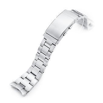 Horloge armband 22mm Super-O Boyer 316L roestvrij staal horloge armband voor Orient Kamasu, geborsteld