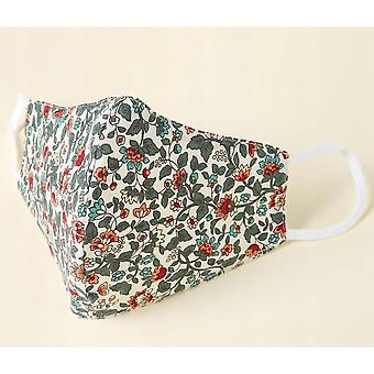 The Adult Mask Fabric Is Washable, Reusable, Adjustable, With Filter Bag (light Red Flower)