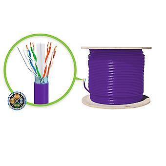 Serveredge Cat6A 305M Network Cable Futp Solid Lszh 23Awg Purple