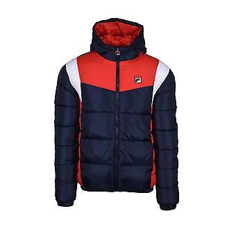 Fila Vintage Fila Simon Colour Block Puffer Jacket Peacoat/ White/ Chinese Red