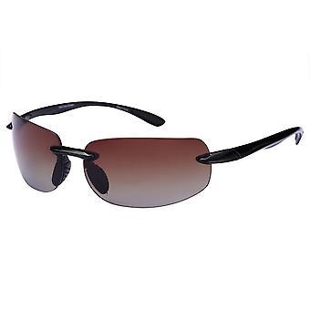 """Sport Wrap Polarized Sunglasses for Men and Women - """"Lovin Maui"""" Lightweight Frames - Amber Driving Lens"""