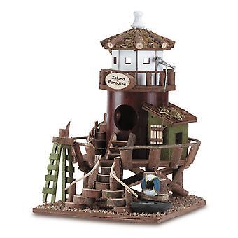 Songbird Valley Island Paradise Lighthouse Birdhouse, Pack of 1