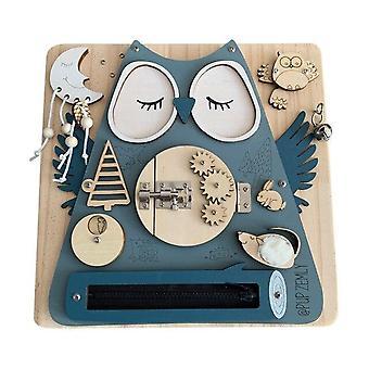Children Cute Eco Activity Board DIY Toys Motor Skill Latch Lock Cognition Toy Activity Board 