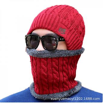 Outdoor Warm Knitted Collar Hat