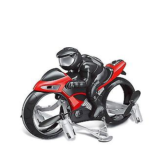 Remote control motorcycles land air fly kids motorcycle headless mode remote control four axis drone racing stunt toy red