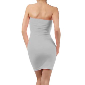Elastic Tube Mini Dress Strapless Stretch Tight Body-con Seamless One Size