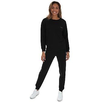Women's Tokyo Laundry Sweatshirt and Jog Pants Set in Black