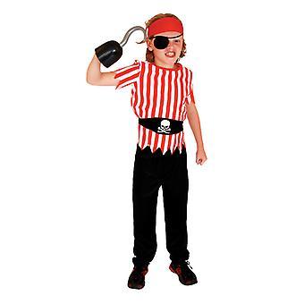 Kinder Piraten Kostüm mit Schuhen, Hut und Gürtel für Jungen und Mädchen Kinderkleidung Fluch der Karibik Captain Set-(b0041)
