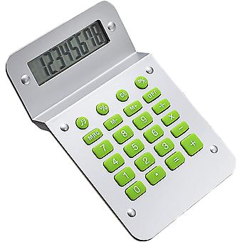 Calculator, 8-bit Novel Twisted Screen Basic Desktop Calculator, Standard Function Creative Design Office/home/school Electronic Calculator (silver)