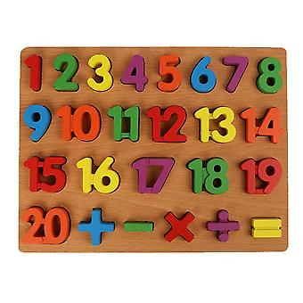 Enfants early education wooden puzzle hand grasping number alphabet board toy