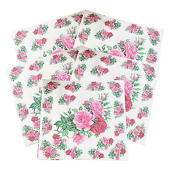 100 vel bloem thema wegwerp papier servet, sepcial design papieren servet voor bruiloft partij home decor