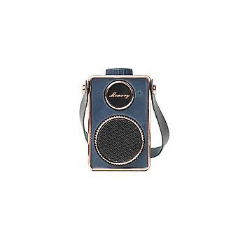 Cm-3 Retro Super Bass Mini Bærbar Høyttaler Usb Håndfri Liten Musikk Høyttaler Mp3-spiller Med Mikrofon (marineblå)