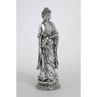 Chrome står Buddha Figurine gave idé-statuen