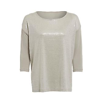 Ex M & S 3 manches Quartar Sequin Top