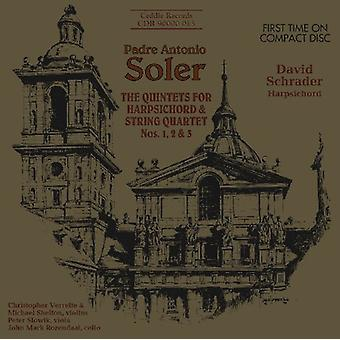 A. Soler - Padre Antonio Soler: The Quintets for Harpsichord & String Quartet Nos. 1, 2 & 3 [CD] USA import