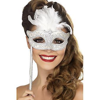 Barock-Fantasie-Augenmaske, Silber