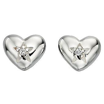 Pendiente de corazón de plata 925