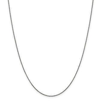925 plata esterlina sólida pulida .90mm cadena de caja collar de resorte anillo de joyería regalos para las mujeres - longitud: 16 a 36