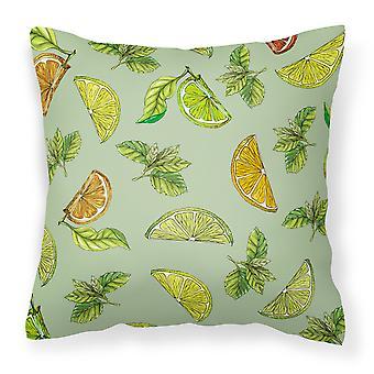 Sitroner, lime og appelsiner stoff Dekorative Pillow