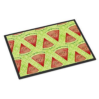 Carolines schatten de BB7518MAT aquarel watermeloen de Indoor of Outdoor Mat 18 x 27
