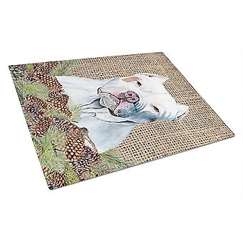 Carolines Treasures  SC9042LCB Pit Bull Glass Cutting Board Large