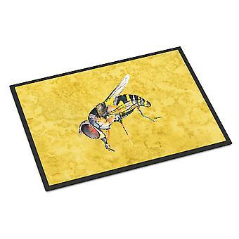 كارولين الكنوز 8851JMAT النحل على ممسحة أصفر داخلي أو في الهواء الطلق حصيرة 24 × 36