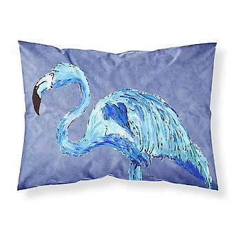 Flamingo auf schieferblau Feuchtigkeit Feuchtigkeitstransport Stoff standard Kissenbezug