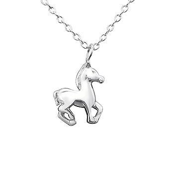 Paard - 925 Sterling Zilver Plain-kettingen - W29889X