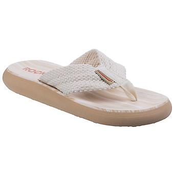Rocket Dog Womens Sunset Webbing Flip Flop Double Cream