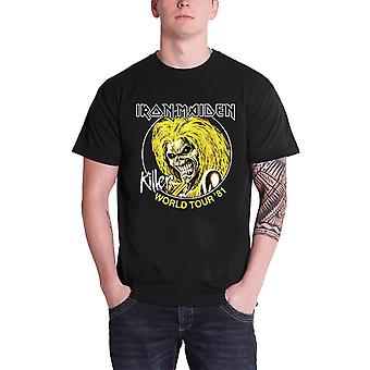 Logotipo de banda Iron Maiden T camisa assassinos World Tour 81 oficial Mens Black