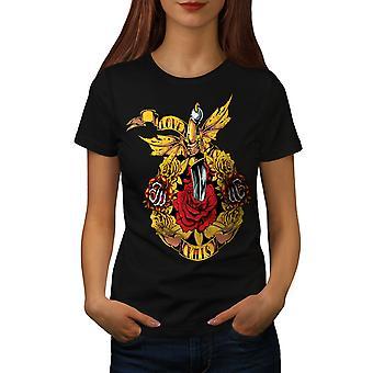 Miłość zabija róży kobiet BlackT-shirt   Wellcoda
