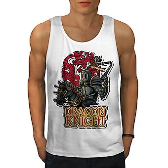 Dragon Knight Men WhiteTank Top | Wellcoda