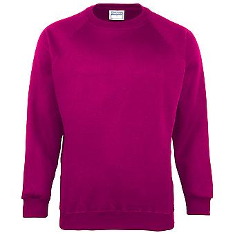 Maddins Mens Coloursure Plain Crew Neck Sweatshirt