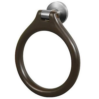 Solid Wood and Zamak Wall Mounted Towel Ring Round Dressing-Gown Hanger