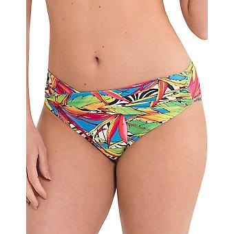 LingaDore 2916TWB-154 Women's Carnaval Multicolour Motif Swimwear Beachwear Bikini Bottom