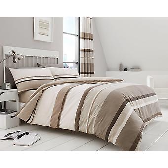 Hudson Stripe Dekbedovertrek Quilt Cover kanvas strepen afgedrukt beddengoed Set