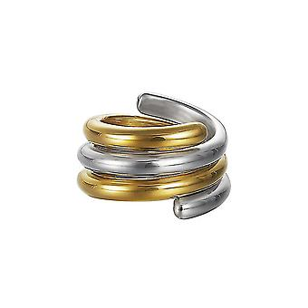 Esprit Damen Ring Silber Bicolor Swiveled ESSE90969A1