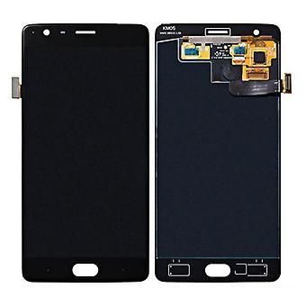 For ONEPLUS 3 three A3000 A3003 5.5 display LCD complete unit repair black also for ONEPlus 3T A3010 fit