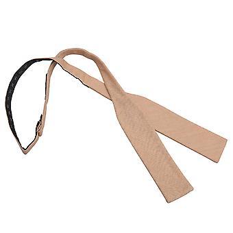 Guld Hopsack linned Batwing selv binde Bow Tie