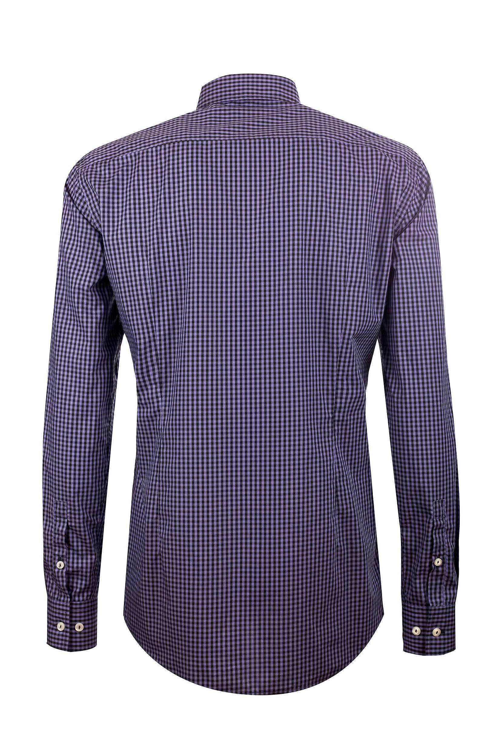 Fabio Giovanni Augusto Shirt - High Quality Italian Poplin Cotton Grey & Black Check Shirt